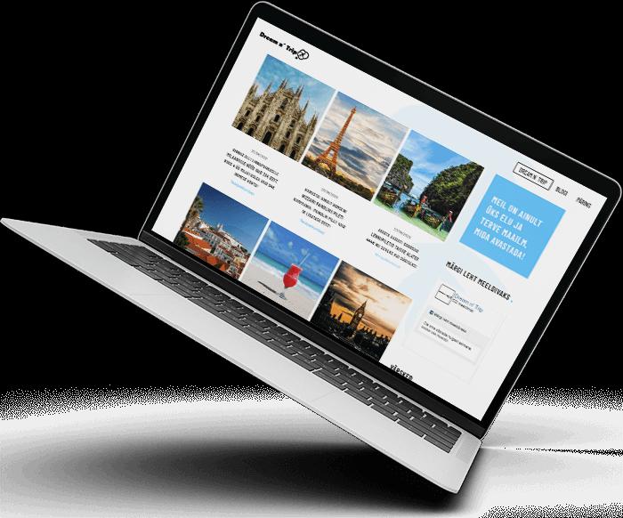 Veebiagentuur | Salesdom | Dreamntrip | Dream n´ Trip | dreamntrip.ee | L-pakett | Veebileht