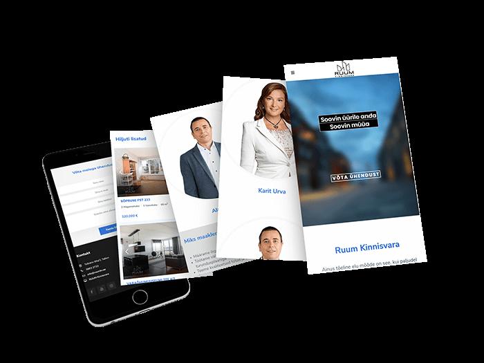 Veebiagentuur | Ruum Kinnisvara | ruumkv.ee | Veebileht | M-pakett